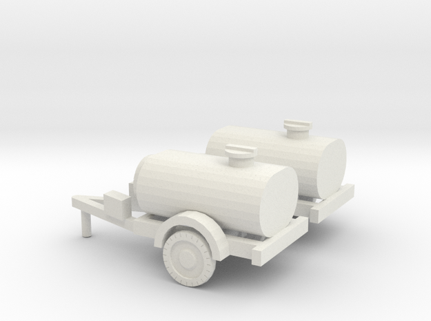 1/120 set of two water trailers in White Natural Versatile Plastic