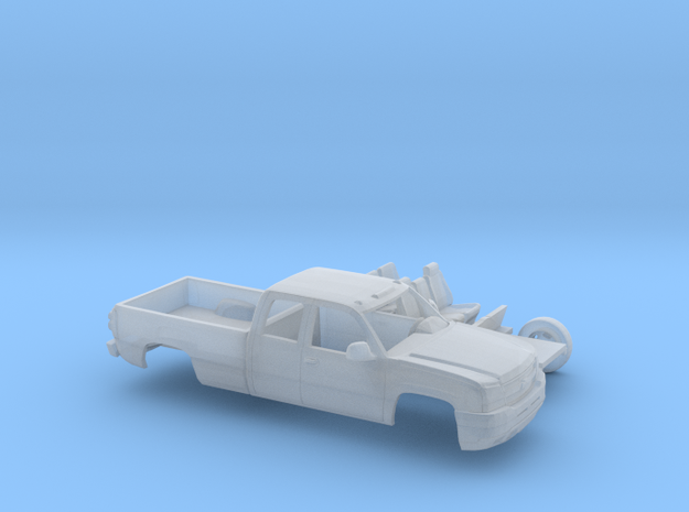 1/87 2003-06 Chevy Silverado1500 ExtCabLongBed Kit in Smooth Fine Detail Plastic