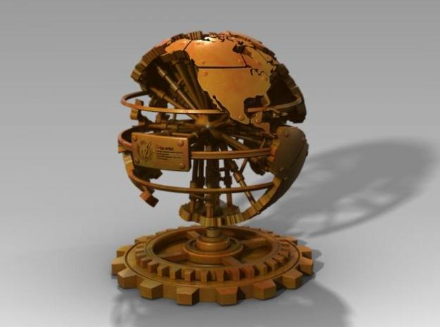 Steampunk World Small 6x6x7 3d printed 3d Render Simulation