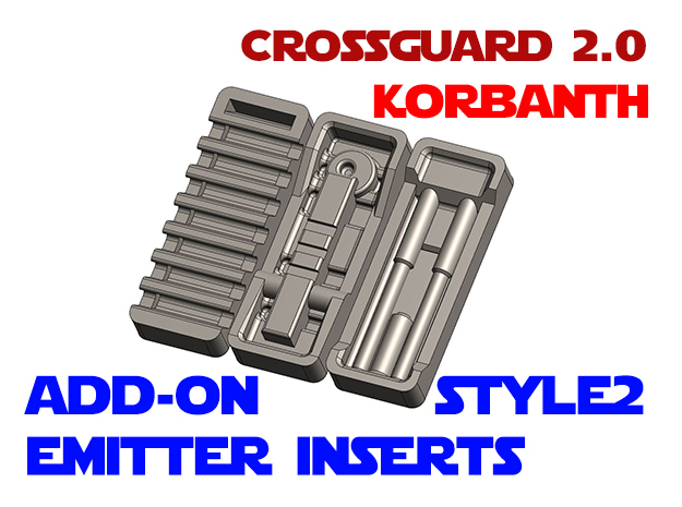 Korbanth Crossguard 2.0 - Emitter Inserts Style2 in White Natural Versatile Plastic
