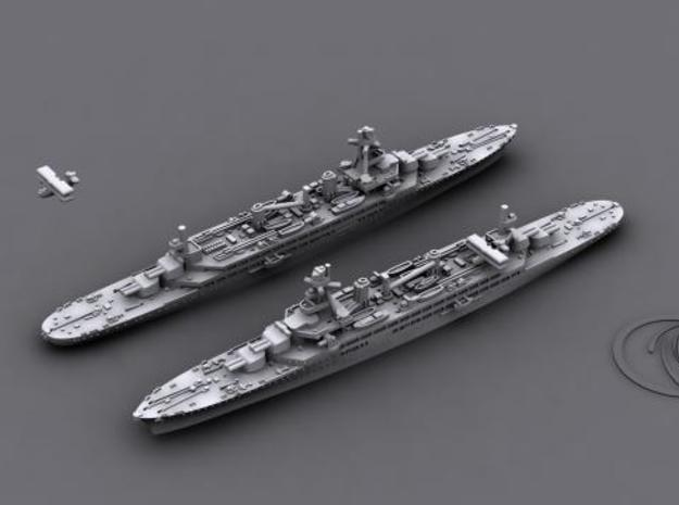 1/4800 WWII French Navy Cruisers 3d printed
