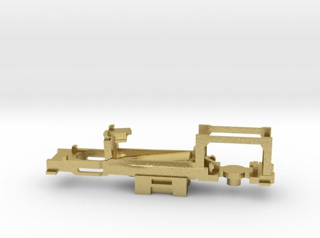 Z Scale Generic Motorized Frame in Natural Brass