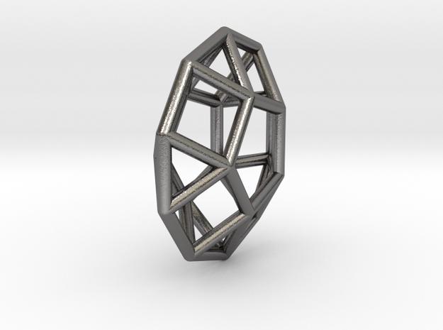 0803 J30 Pentagonal Orthobicupola (a=1cm) #1 in Polished Nickel Steel