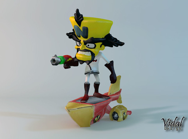 Neo Cortex on his Ship - Crash Twinsanity - 100mm in Full Color Sandstone