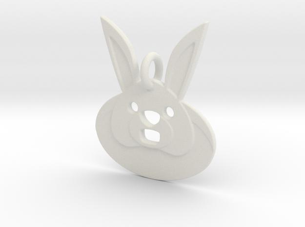 Rabbit Hole Pendant in White Natural Versatile Plastic