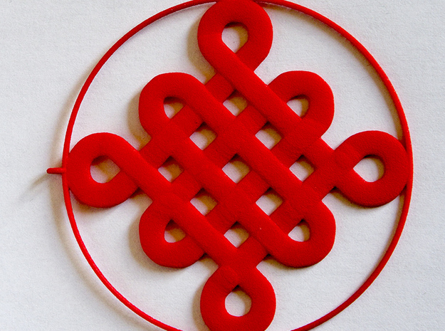 Chinese Knot Earrings 3d printed