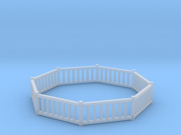 'N Scale' - Pier Bldg 1 - Railing in Smooth Fine Detail Plastic