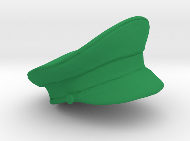 Officer's Military Hat in Green Processed Versatile Plastic: Large