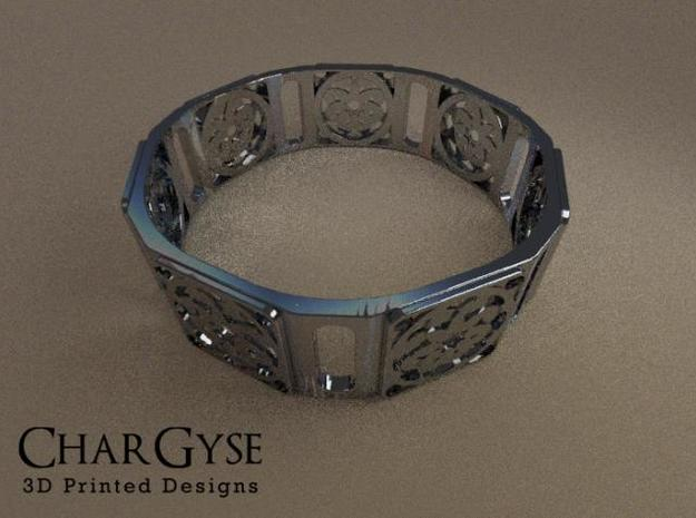 Bangle - Sixteen Petals in Smooth Fine Detail Plastic