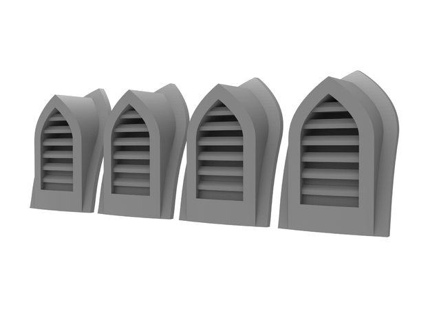 Arch Vent - Slats (4pcs) in Smoothest Fine Detail Plastic