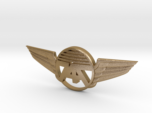 747 Pin 2018 in Polished Gold Steel
