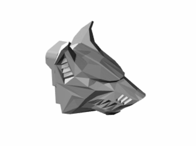Wolf Head for Armiger-scale Knight in Smooth Fine Detail Plastic