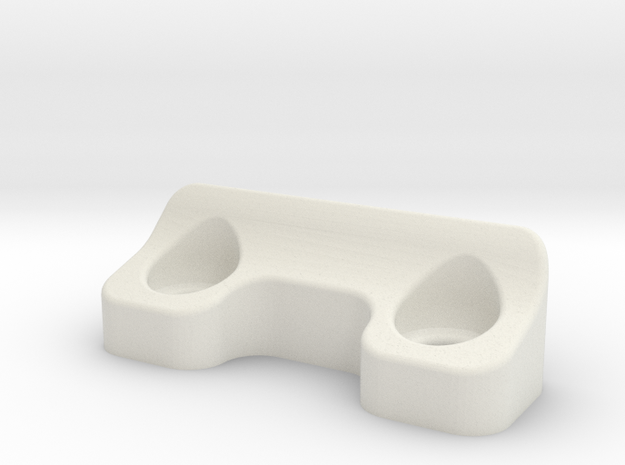 Team Associated B6 & B6.1 Body Rear Mount in White Natural Versatile Plastic