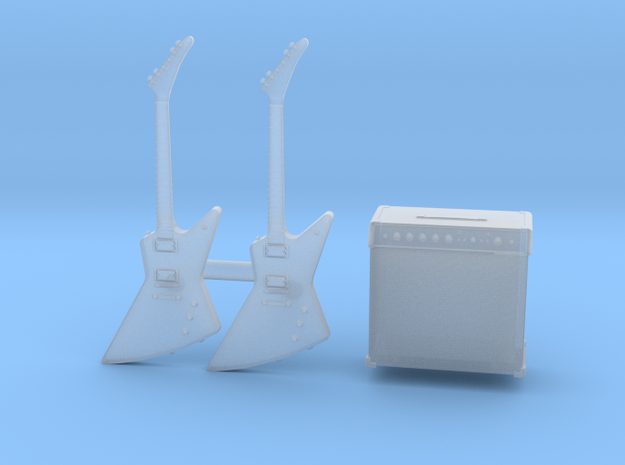 1/35 Gibson Explorer 2x and Amp MSP35-080 in Smoothest Fine Detail Plastic