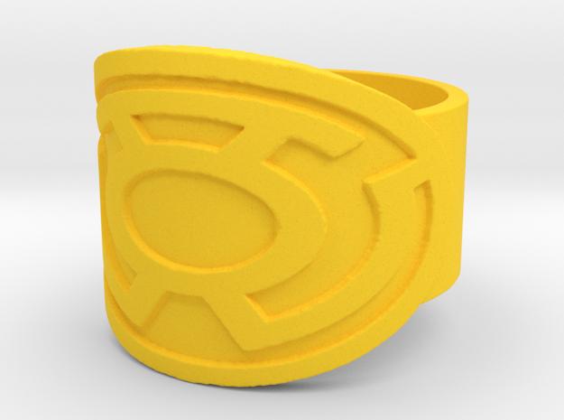 Sinestro Ring  in Yellow Processed Versatile Plastic: 10 / 61.5