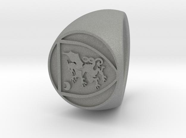 custom signet ring 85 in Gray PA12