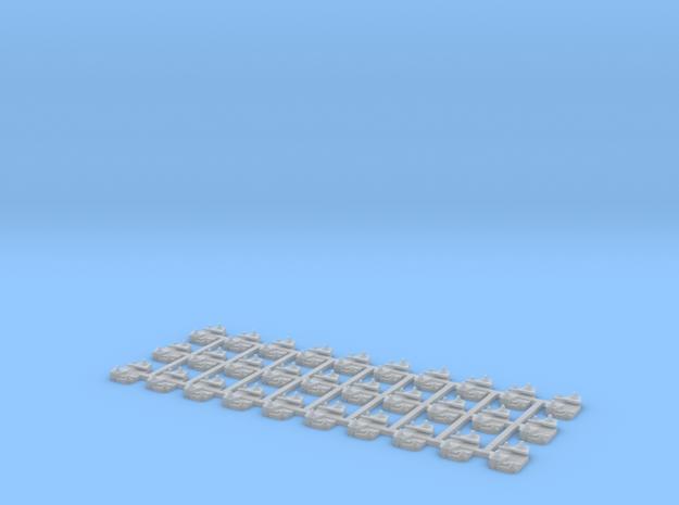 30 Selles pour rail Vignole Nabla in Smooth Fine Detail Plastic
