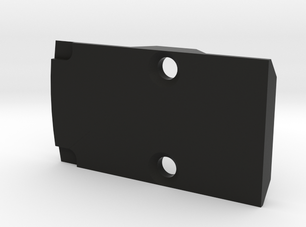 RMR slide plate blank in Black Natural Versatile Plastic