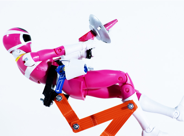 Space Pink Accessory - Power Rangers  in White Natural Versatile Plastic
