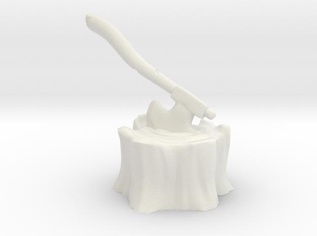 hacha in White Natural Versatile Plastic