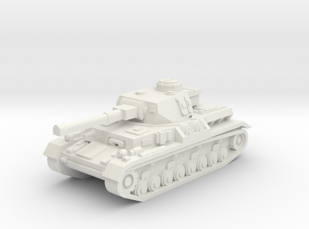Panzer IV ausf. J w/o skirts in White Natural Versatile Plastic