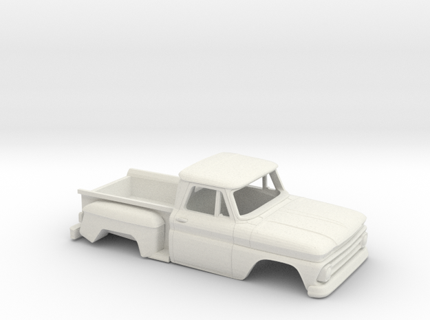 1/32 1963-66 Chevrolet C-10 Stepside Shell in White Natural Versatile Plastic