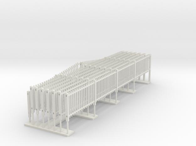 Southern Railway Standard Concrete Paling Fence in White Premium Versatile Plastic