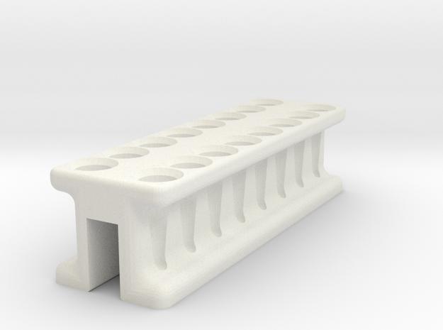 8-Tube PCR Strip Magnetic Concentrator Stand V1 in White Premium Versatile Plastic