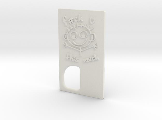 TBF# - Stick Man Door - 21700 in White Natural Versatile Plastic