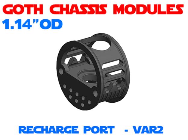 GCM114 - Recharge Port Chassis Var2 in White Natural Versatile Plastic