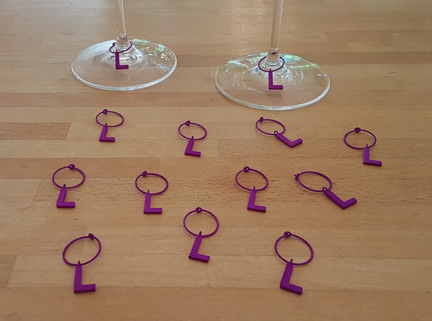 14 L Glass Tags in Purple Processed Versatile Plastic
