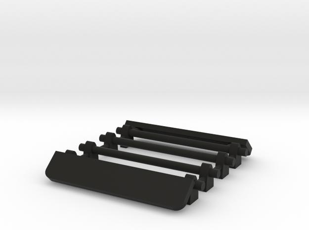 1/64 Two Roof Racks with Wind Deflector 19mm width in Black Natural Versatile Plastic