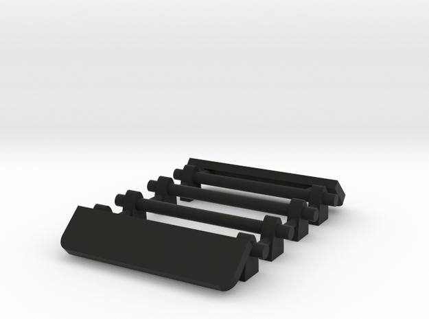 1/64 Two Roof Racks with Wind Deflector 15mm width in Black Natural Versatile Plastic