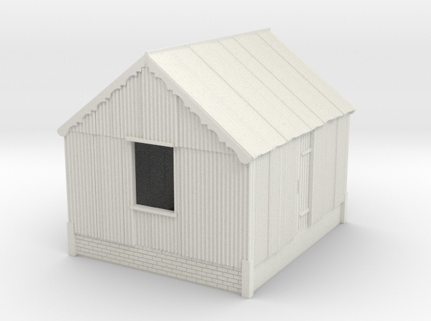 Corrugated Iron Shed 4mm/ft in White Natural Versatile Plastic