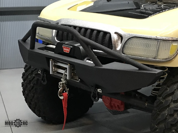 Winch Bumper for Axial Trail Honcho Full in Black Natural Versatile Plastic