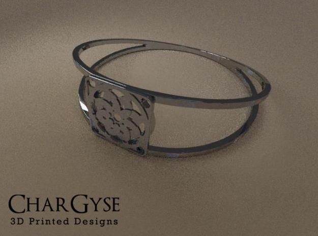 Elegant Bangle - Sixteen Petals in Frosted Ultra Detail