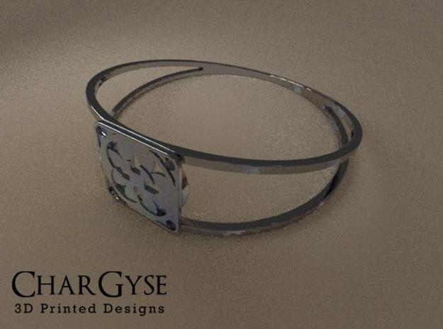 Elegant Bangle - Four Fountains in Frosted Ultra Detail