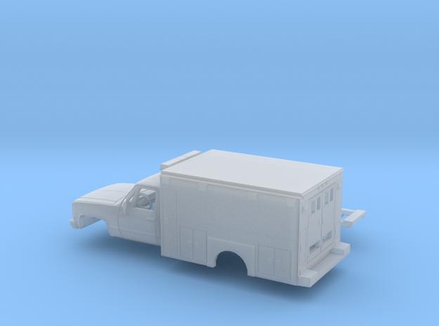 1/160 1980-88 Chevy Silverado RegCab Ambulance Kit in Smooth Fine Detail Plastic
