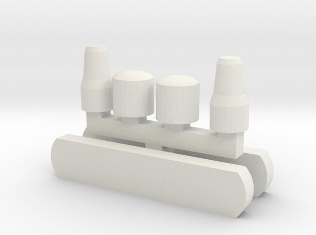 LH Wiener Linien Scheinwerfer und Zielschild in White Natural Versatile Plastic