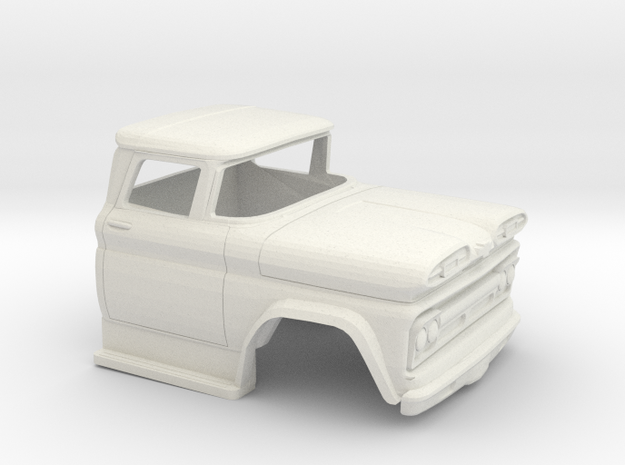 1/32 1960-61 Chevrolet C 50 Cab in White Natural Versatile Plastic