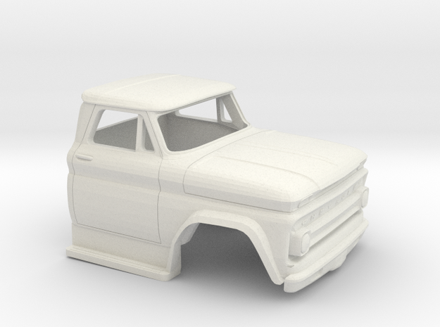 1/32 1963-66 Chevrolet C 50 Cab in White Natural Versatile Plastic