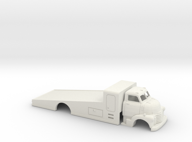 1/32 1949 Chevy COE Cab/Ramp Bed in White Natural Versatile Plastic