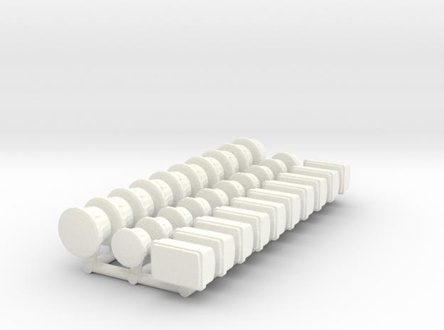 1/35 Light Set (10 each) in White Processed Versatile Plastic