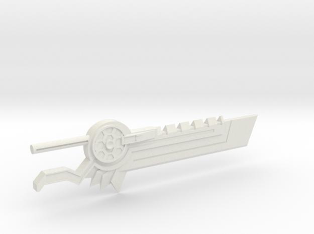 Dinobot Combiner Volcanicus Energo Sword in White Natural Versatile Plastic