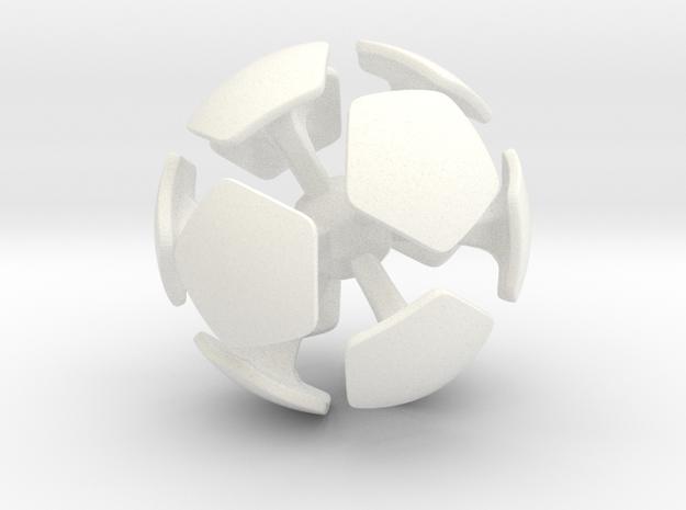 "light ""airless"" foosball ball 1 (2.5cm) in White Processed Versatile Plastic"