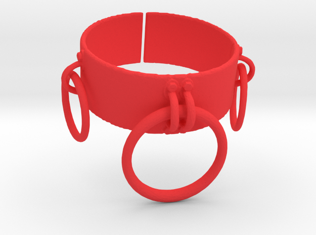 O Ring Collar in Red Processed Versatile Plastic: Small