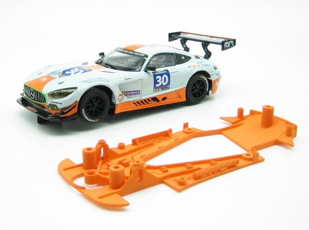 PSSX00102 Chassis for Scalextric AM GT3 (NSR) in Orange Processed Versatile Plastic