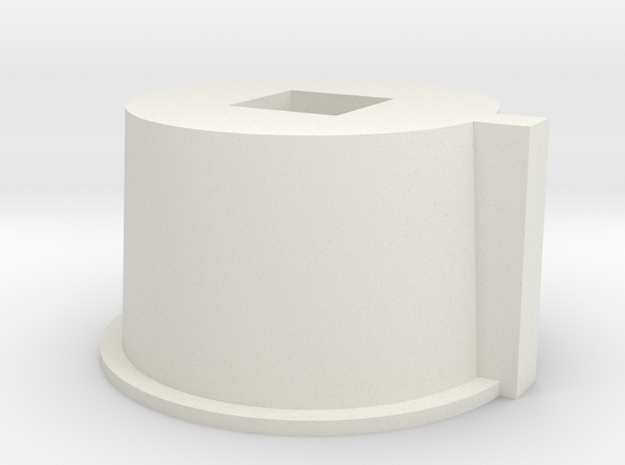 Core Adapter for 16mm Mod in White Natural Versatile Plastic