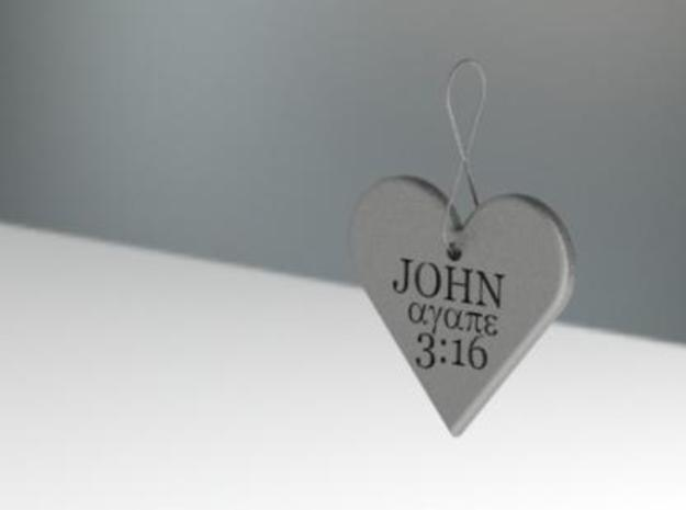 Eternal Love Pendant 3d printed
