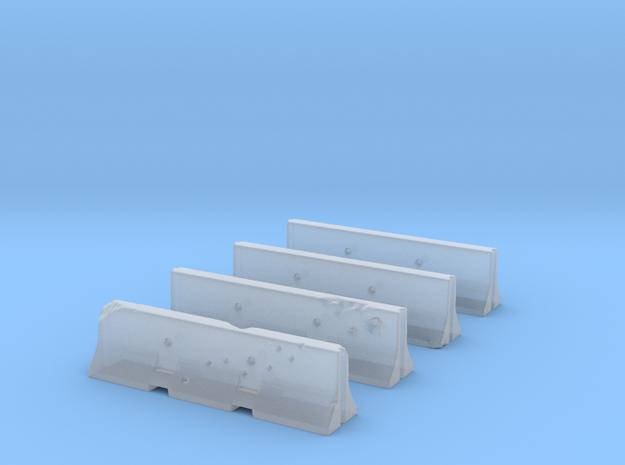 Jersey Barriers Set 4 pieces - undamaged, 28mm sca